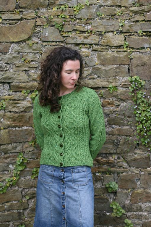 Cabled Cardigan Irish knitting pattern