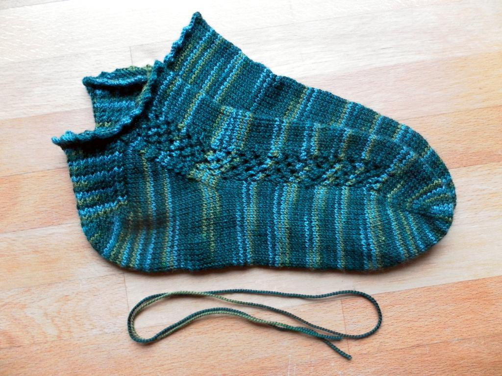 Toe-Up Anklet Socks knitting project