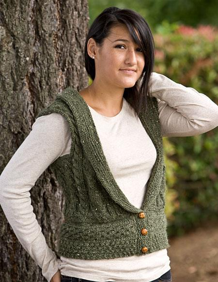 Memories of Eire vest knitting pattern