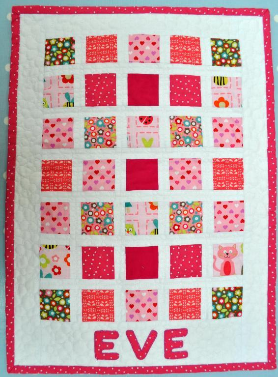 Simple square doll quilt