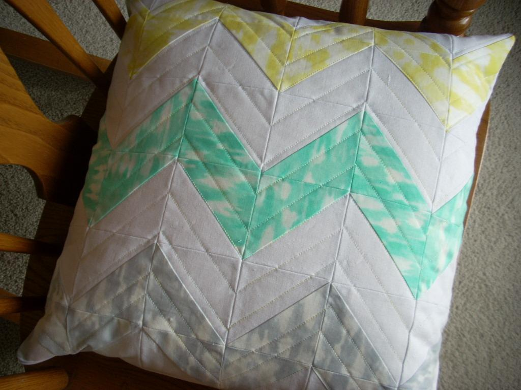 Sunshine Serenade chevron pillow cover