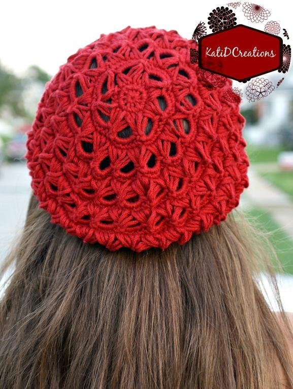 Broomstick Lace Slouchy Hat