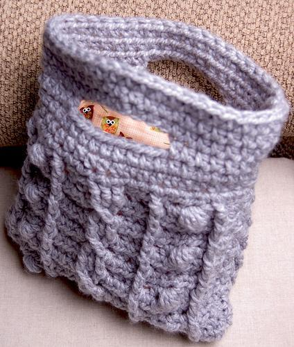 Cabled Bobble Clutch crochet pattern