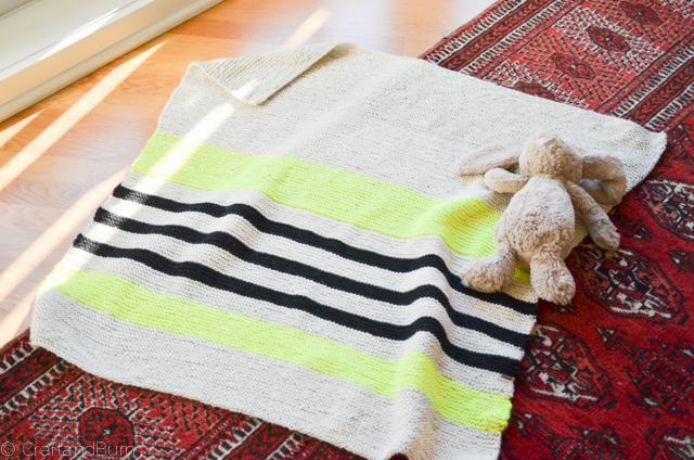 Follow the Line Blanket knitting pattern