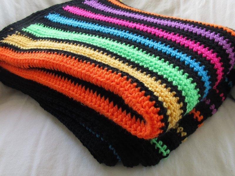 Neon Stripe Blanket crochet pattern