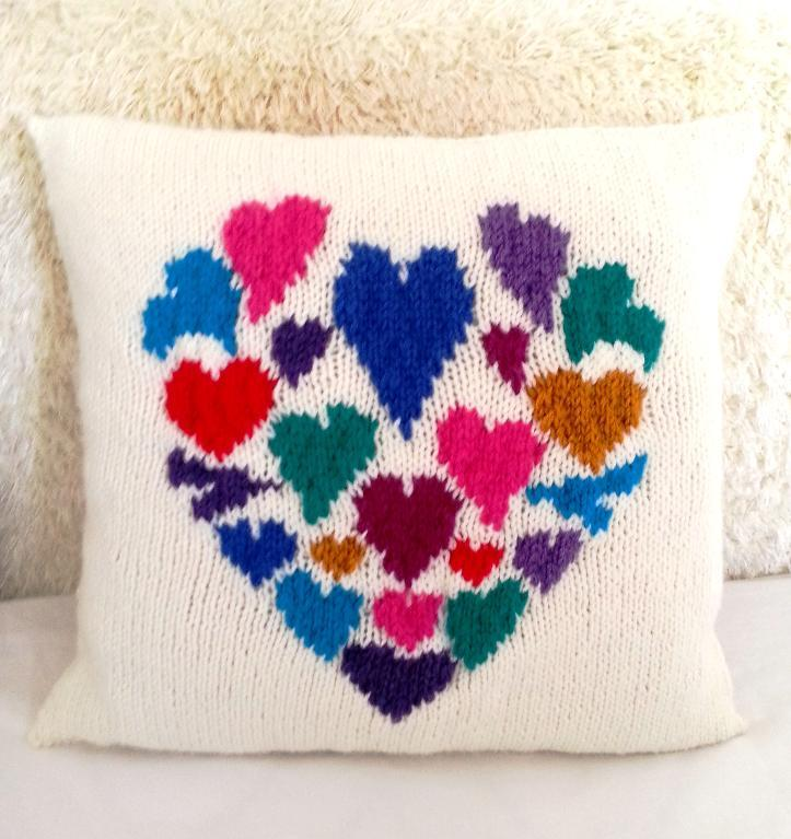 Heart of Hearts Pillow knitting pattern