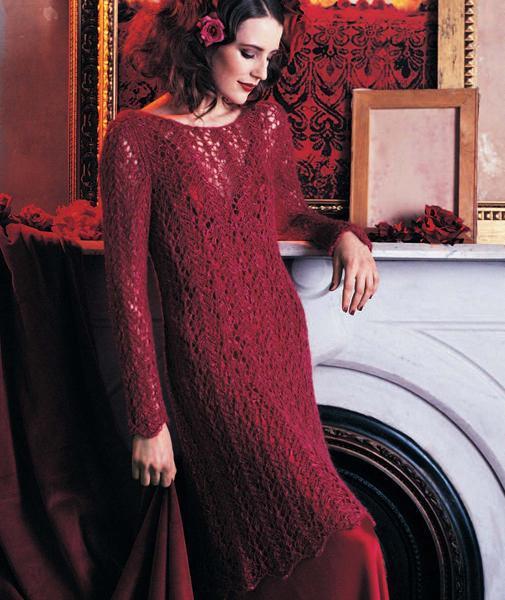 Lily Chin's Lace Dress knitting pattern