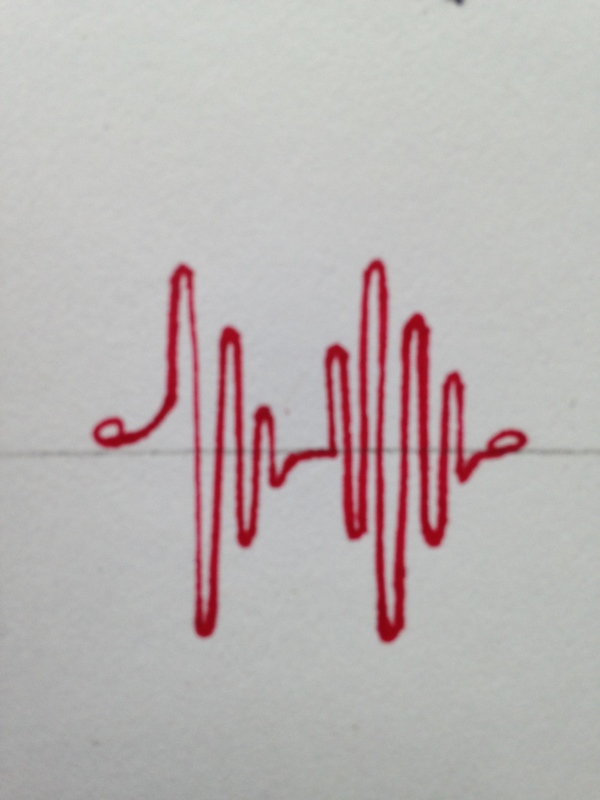 Heartbeat design drawing