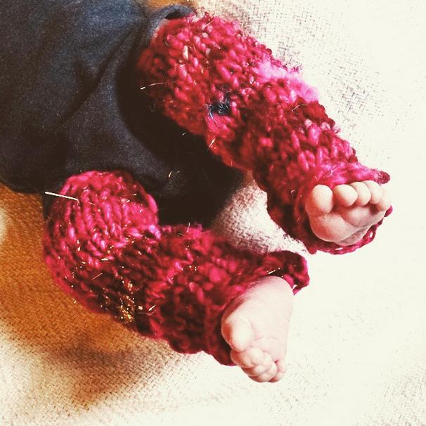 Handknit Baby Leggings