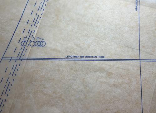 pattern markings to shorten