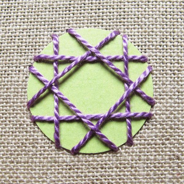 example of second shisha foundation stitches