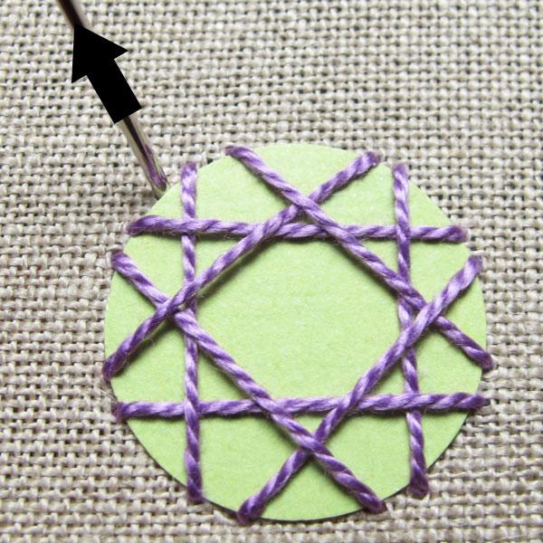 decorative stitches around the edging
