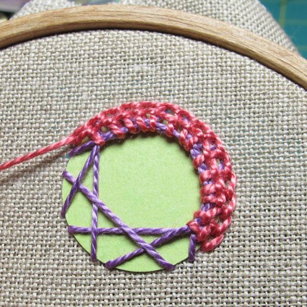 Continue stitching