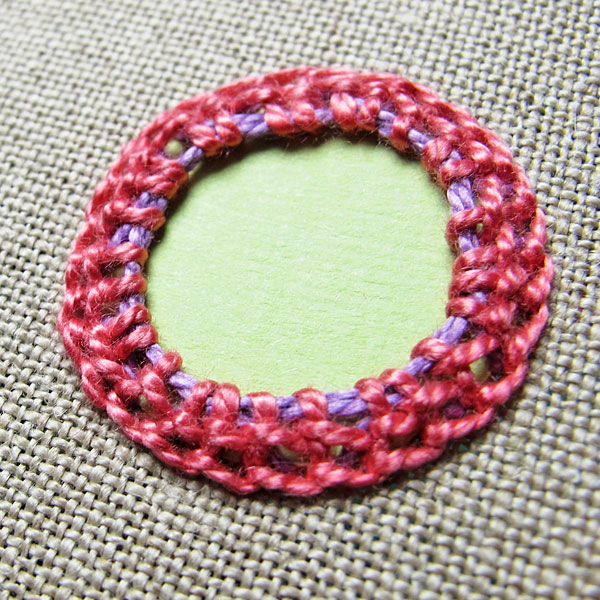 completed shisha stitch