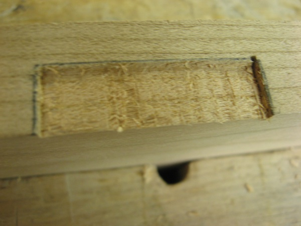 mortise for hinges