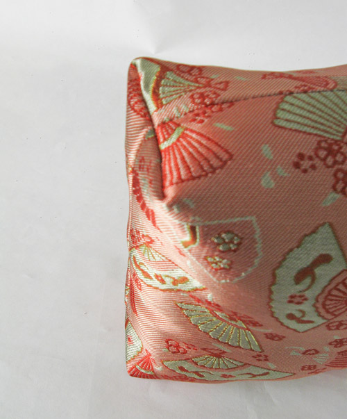 square brocade pillow