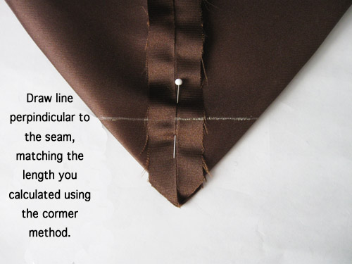 triangle seam sewn
