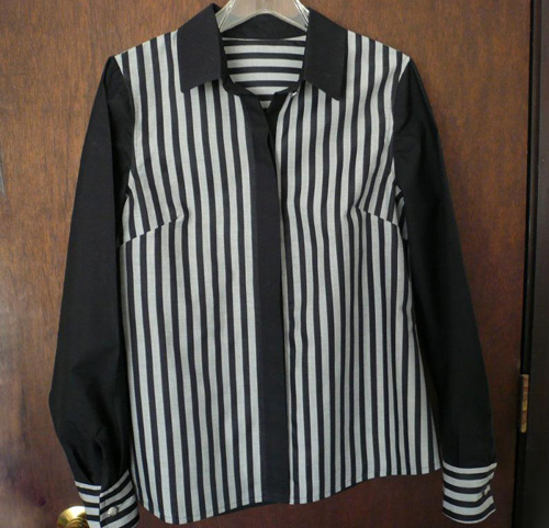 striped black and white shirt1