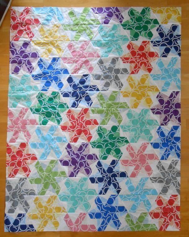 hexagon pinwheel quilt