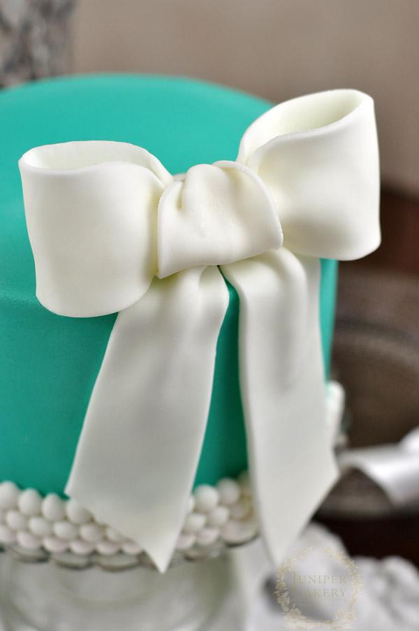 bold white fondant bow
