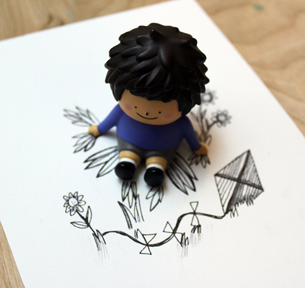 3d toy with drawing