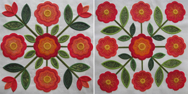 Traditions Rose of Sharon embroidery appliqué designs.