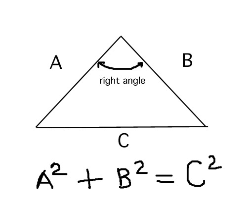 diagram of triangle measurements