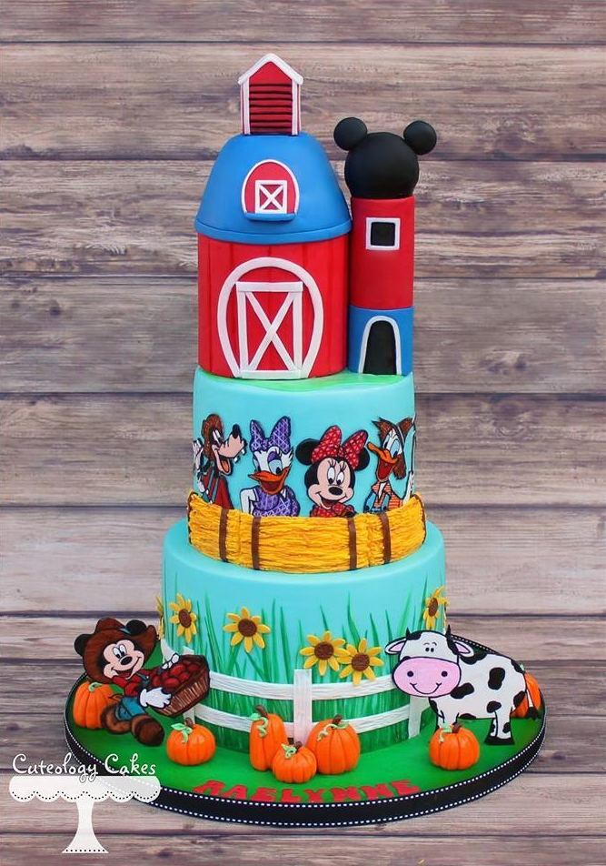 Disney farm cake