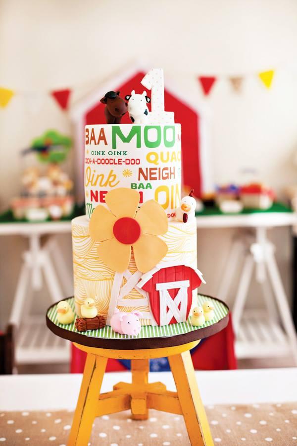 Modern Farm Cake