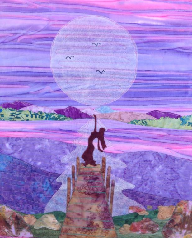moon landscape quilt