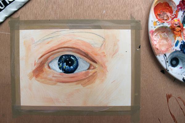Shading around eye