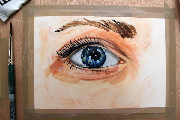 Painting eyelashes