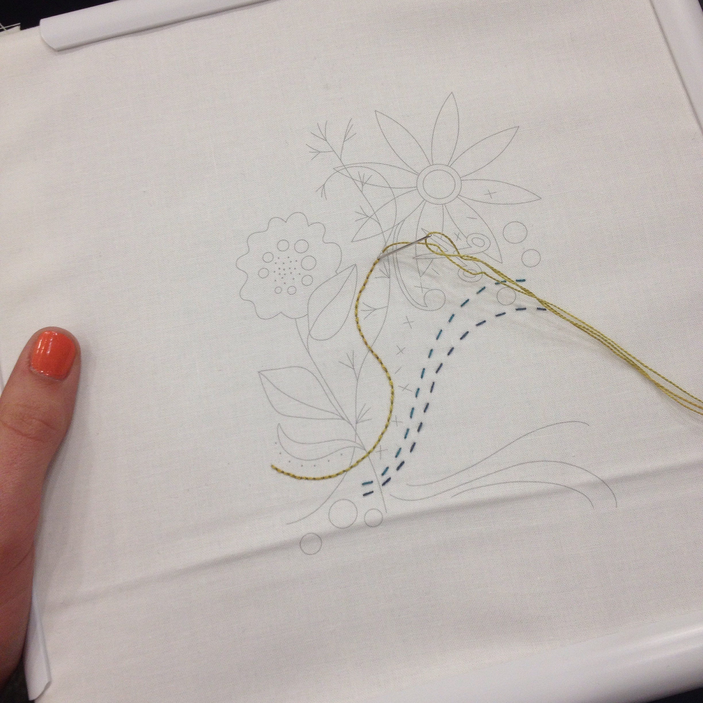 Alison Glass embroidery class