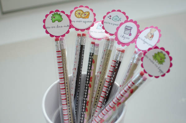 DIY Valentine Pencil Packs