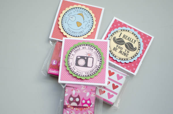 Digital Stamps DIY Valentine Treat Bags