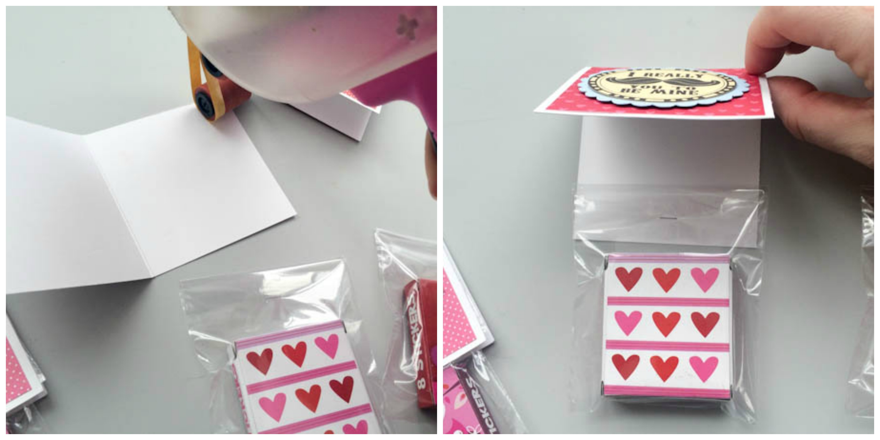 Digital stamp DIY Valentine Treat bag