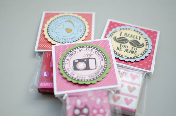 Digital stamp DIY Valentine Treat Bags