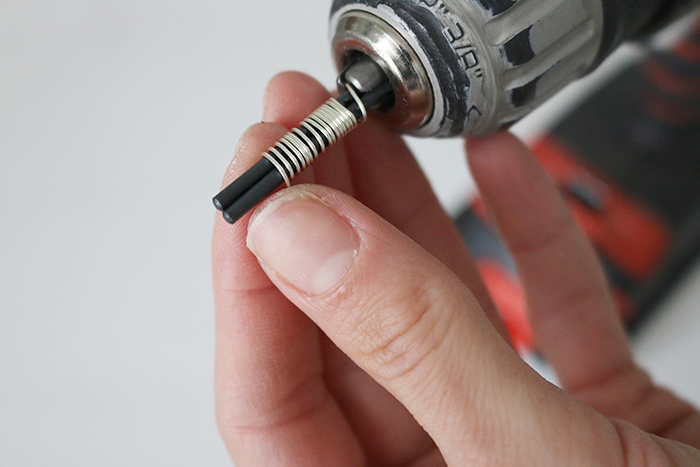 FREE Oval Jump Ring Making - threading wire onto drill bits
