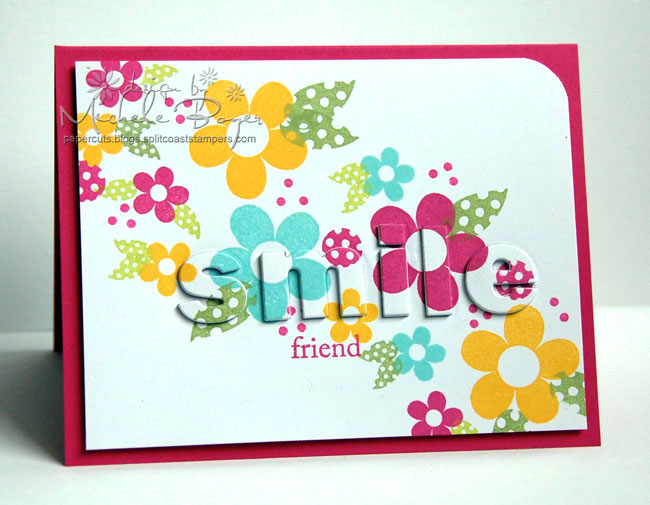 """Smile Friend"" Stamped Card"