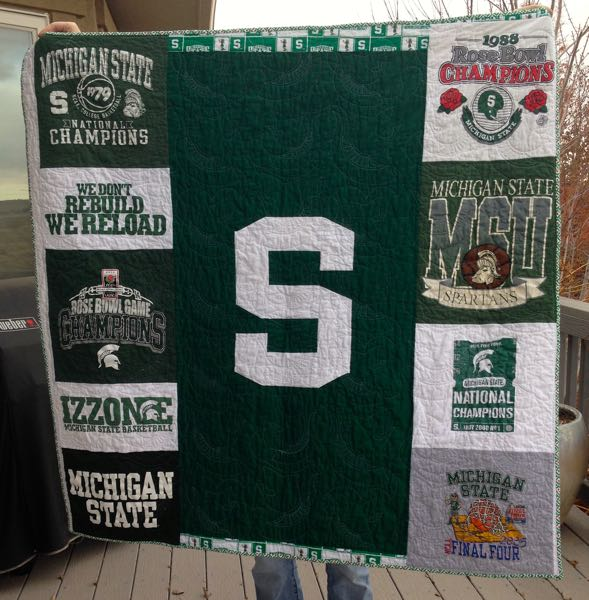 Sparty quilt back