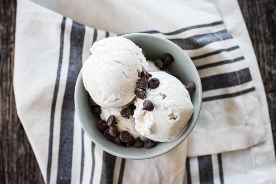 Easy Vanilla Bean Vegan Ice Cream