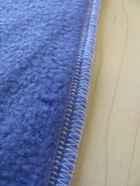 serged edges to compress seams