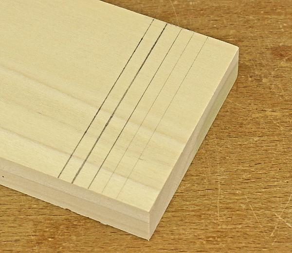 pencil lines on wood