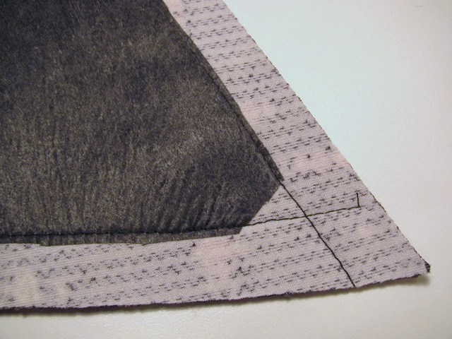 trim interfacing away