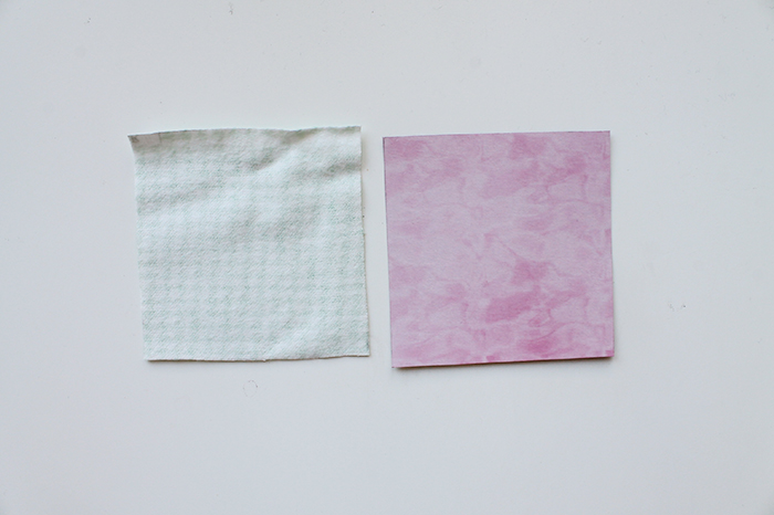 Fabric swatch and template