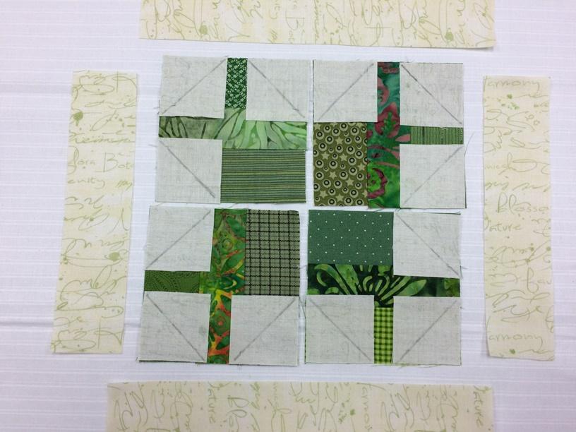 diagonal markings on squares
