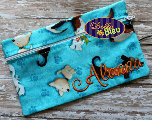 ITH embroidery wallet pouch