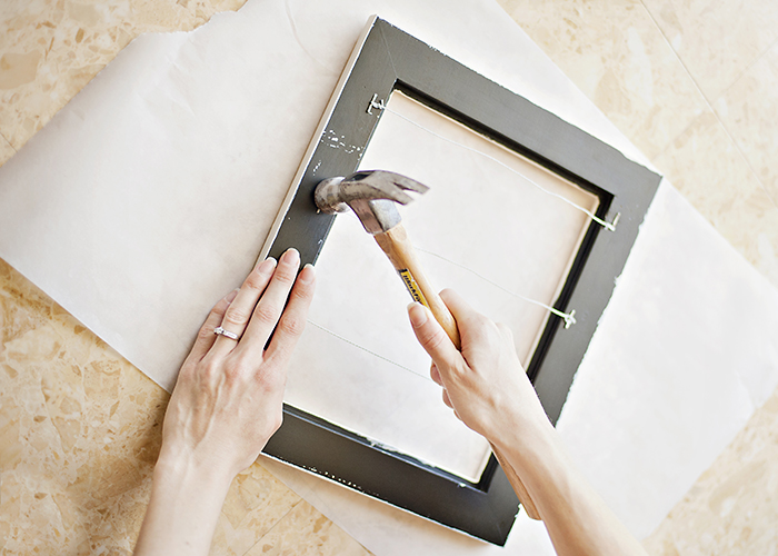 Jewelry Frame Storage Idea - secure wire to the back