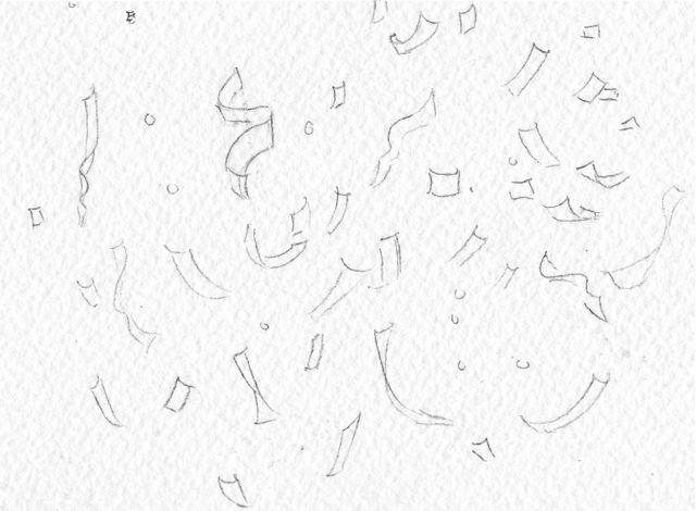 confetti outlines