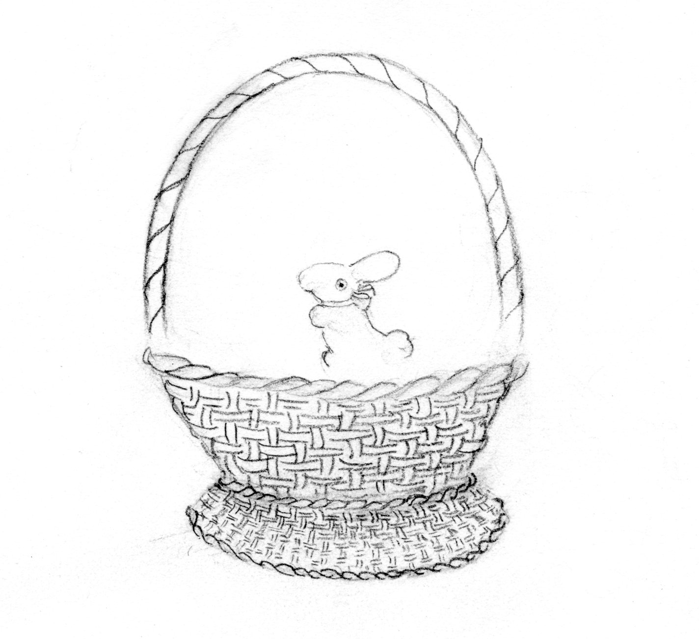sketched basket